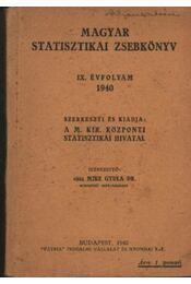 Magyar Statisztikai Zsebkönyv IX. éfvolyam 1940. - Régikönyvek