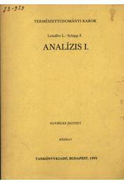 Analízis I. - Régikönyvek