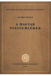 A magyar nyelvemlékek - Régikönyvek