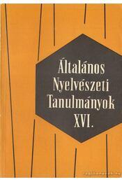 Általános Nyelvészeti Tanulmányok XVI. - Régikönyvek