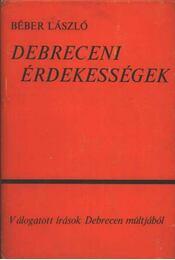 Debreceni érdekességek - Régikönyvek