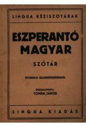 Eszperentó-magyar szótár - Régikönyvek