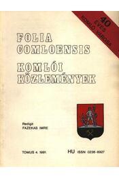 Komlói közlemények 1991. 4. - Régikönyvek