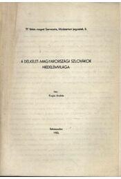 A délkelet-magyarországi szlovákok hiedelemvilága - Régikönyvek