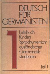 Deutsch für germanisten I. - Régikönyvek