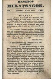 Hasznos mulatságok 1837/26. szám - Régikönyvek