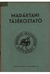 Madártani tájékoztató 1982. április-szeptember - Régikönyvek