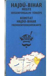 Hajdú-Bihar megye idegenforgalmi térképe - Régikönyvek