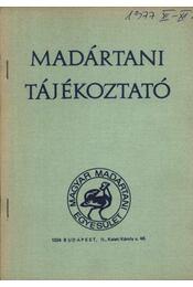 Madártani tájékoztató 1977. november-december - Régikönyvek