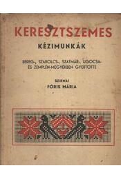 Keresztszemes kézimunkák - Régikönyvek