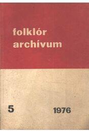 Folklór archívum 1976/5. - Régikönyvek