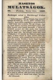 Hasznos mulatságok 1837/22. szám - Régikönyvek