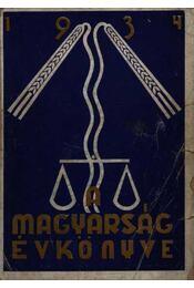 A magyarság évkönyve 1934. - Régikönyvek