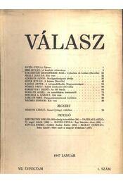 Válasz 1947. január VII. évfolyam 1. szám - Régikönyvek