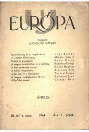 Uj Európa 1944 április 4. szám - Régikönyvek