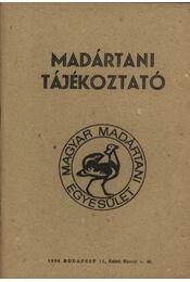 Madártani Tájékoztató 1983. január-június - Régikönyvek