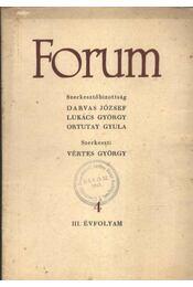 Forum III. évfolyam 4 - Régikönyvek