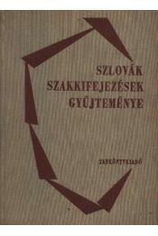 Szlovák szakkifejezések gyűjteménye - Régikönyvek