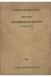 Differenciálegyenletek - Régikönyvek