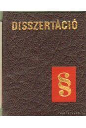 Disszertáció (mini) (számozott) - Régikönyvek