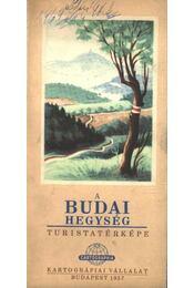 A Budai hegység turistatérképe - Régikönyvek