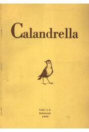 Calandrella 1994. VIII/1-2. - Régikönyvek