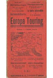 Europa Touring (német-nyelvű térkép) - Régikönyvek