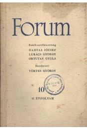 Forum II. évfolyam 10 - Régikönyvek