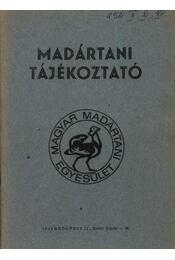 Madártani tájékoztató 1981. október-december - Régikönyvek