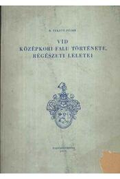 Vid középkori falu története, régészeti leletei - Régikönyvek
