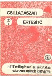 Csillagászati értesítő 84/1 - Schalk Gyula - Régikönyvek