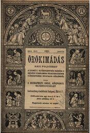 Örökimádás 1929-1930. (2évfolyam) - Régikönyvek