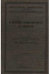 A bűnvádi perrendtartás és novállái (dedikált) - Régikönyvek