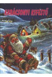 Karácsonyi kifestő - Régikönyvek