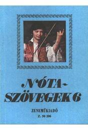 Nótaszövegek 6. - Régikönyvek