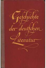 Geschichte der deutschen literatur - Stössel, M. D. - Régikönyvek