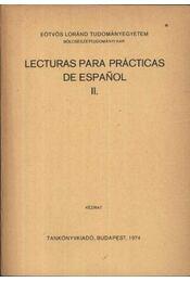 Lecturas para prácticas de espanol II - Régikönyvek