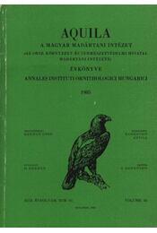 Aquila évkönyv 1985. XcII évfolyam 92.sz. - Régikönyvek