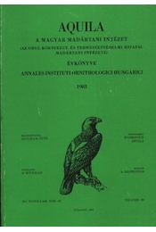 Aquila évkönyve 1983. XC. évfolyam 90. sz. - Régikönyvek