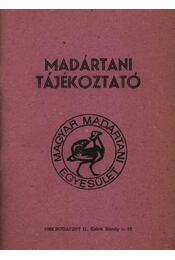 Madártani tájékoztató 1985. január-március - Régikönyvek