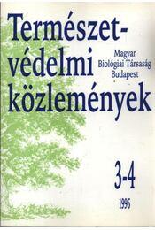 Természetvédelmi közlemények 1996 3-4 - Régikönyvek
