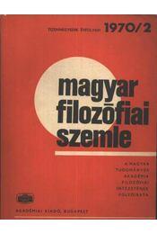 Magyar filozófiai szemle 1970/2. - Régikönyvek