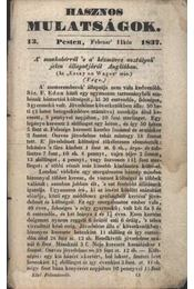 Hasznos mulatságok 1837/13. szám - Régikönyvek