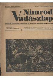 Nimród Vadászlap 1948. márc. 1. - Régikönyvek