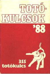 Totókulcsok '88 355 totókulcs - Régikönyvek