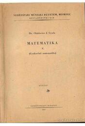 Matematika V. - Pédatár a matematika V.-höz - Régikönyvek