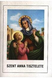 Szent Anna tisztelete - Régikönyvek