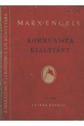Kommunista kiáltvány - Régikönyvek