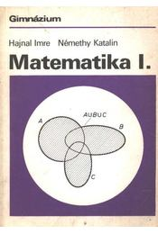 Matematika I. (gimnázium) - Régikönyvek