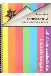 Commodore 64 információs kártya - Dr. Úry László - Régikönyvek